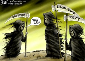 Grim Reaper cartoon of the Oberlin endowment