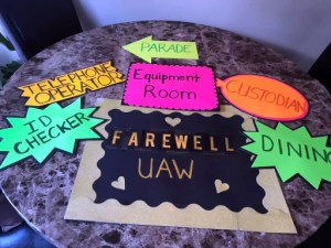 UAW Farewell - departments