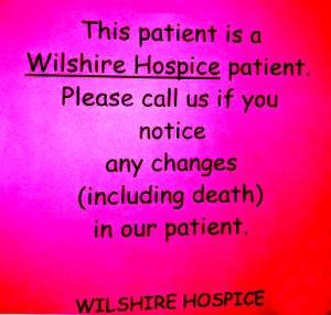 Wilshire Hospice patient death procedure