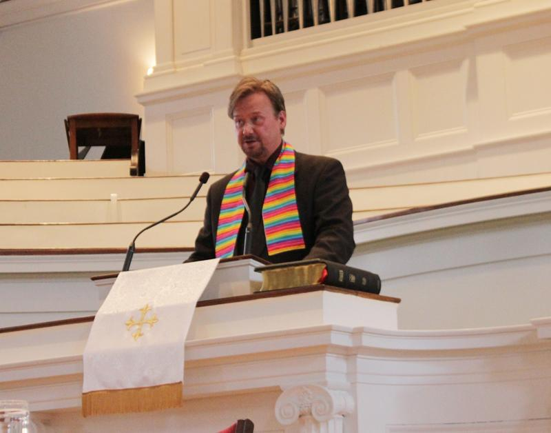 Frank Schaefer, who spoke at First Methodist Church on Thursday