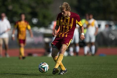 Ingham's Late Goal Puts Men's Soccer on Top