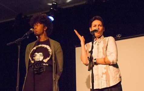 Feature Photo: Slam Poetry Duo Performs at Cat
