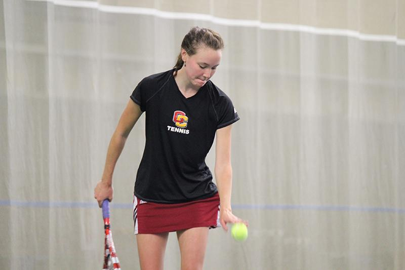 Senior+captain+Grace+Porter+sets+up+for+a+serve+in+a+match+against+the%0D%0AUniversity+of+Chicago+Maroons+last+weekend.+The+women%E2%80%99s+tennis%0D%0Ateam+returns+to+its+home+courts+to+play+Case+Western+University+and%0D%0AOtterbein+University+this+Saturday.