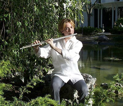 Claire Chase, who is a flautist, MacArthur Fellow and the co-founder of the International Contemporary Ensemble