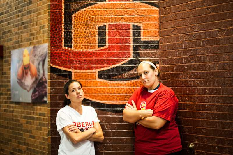Field Hockey Head Coach Tiffany Saunders (left) and Softball Head Coach Sara Schoenhoft