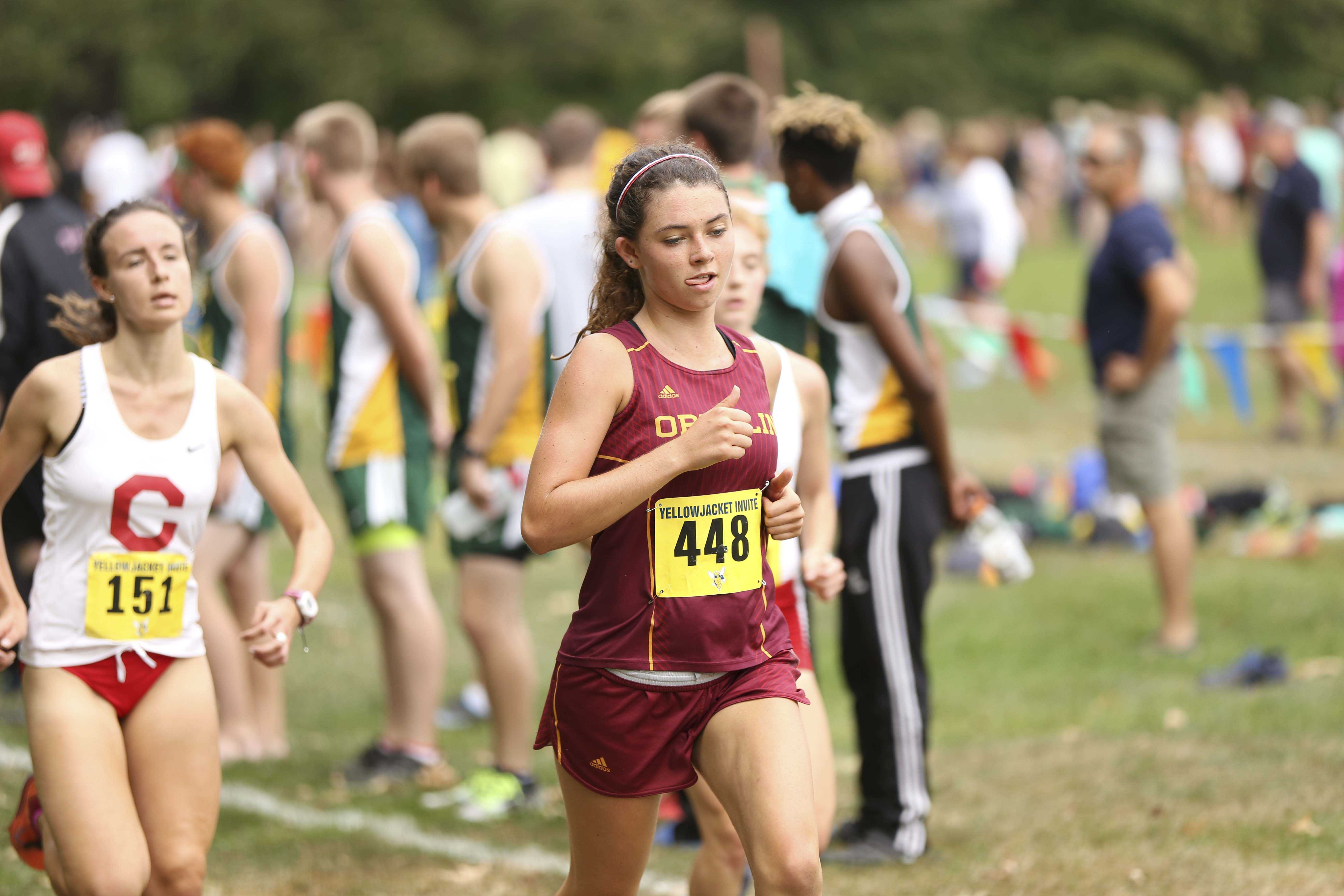 First-year Marija Crook races in the women's 6k. The cross country teams will participate in The College of Wooster 5k Twilight Challenge tonight and then head to the NCAA Great Lakes Regional meet Nov. 12.
