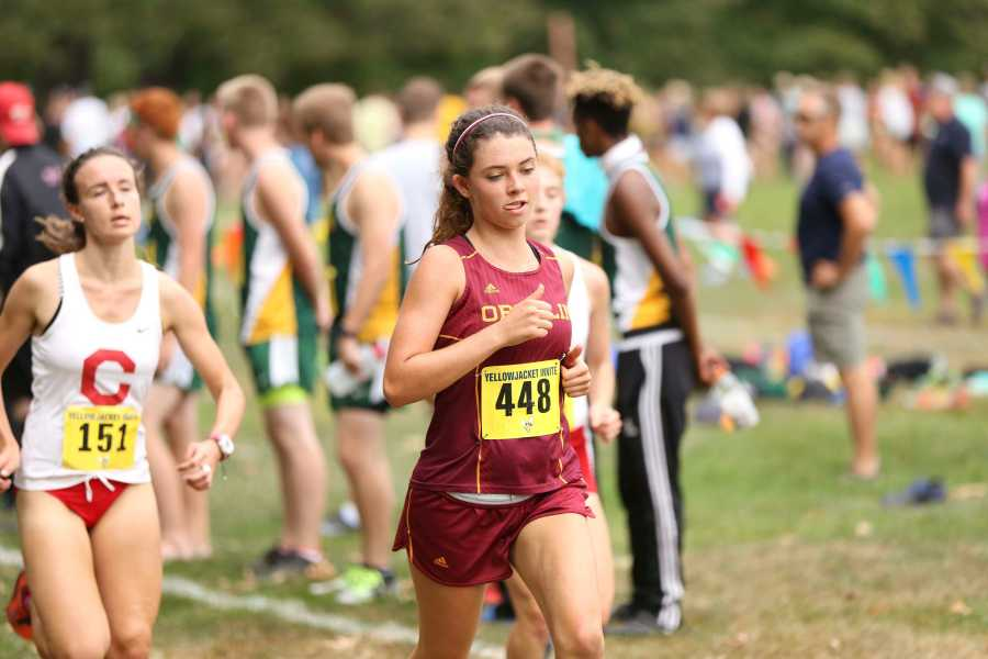 First-year+Marija+Crook+races+in+the+women%E2%80%99s+6k.+The+cross+country+teams+will+participate+in+The+College+of+Wooster+5k+Twilight+Challenge+tonight+and+then+head+to+the+NCAA+Great+Lakes+Regional+meet+Nov.+12.+