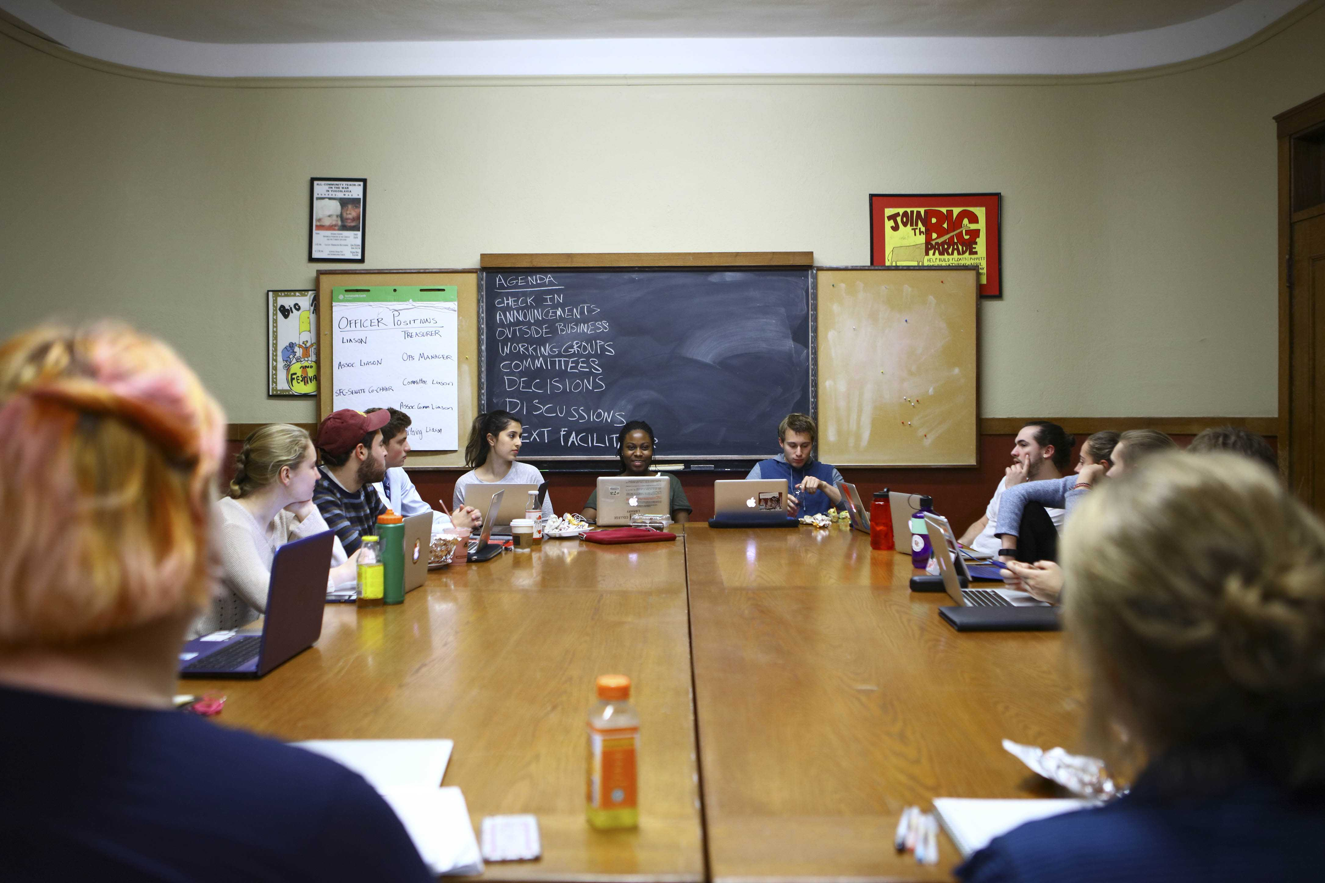 Student Senate met for the first time since elections in Wilder Hall Sunday evening. The new group is introducing a focus on student activism.