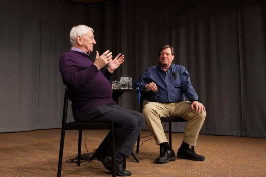 British-American+composer+Bernard+Rands+gives+a+talk+on+the+current+state+of+contemporary+classical+music+Tuesday+at+The+Birenbaum.