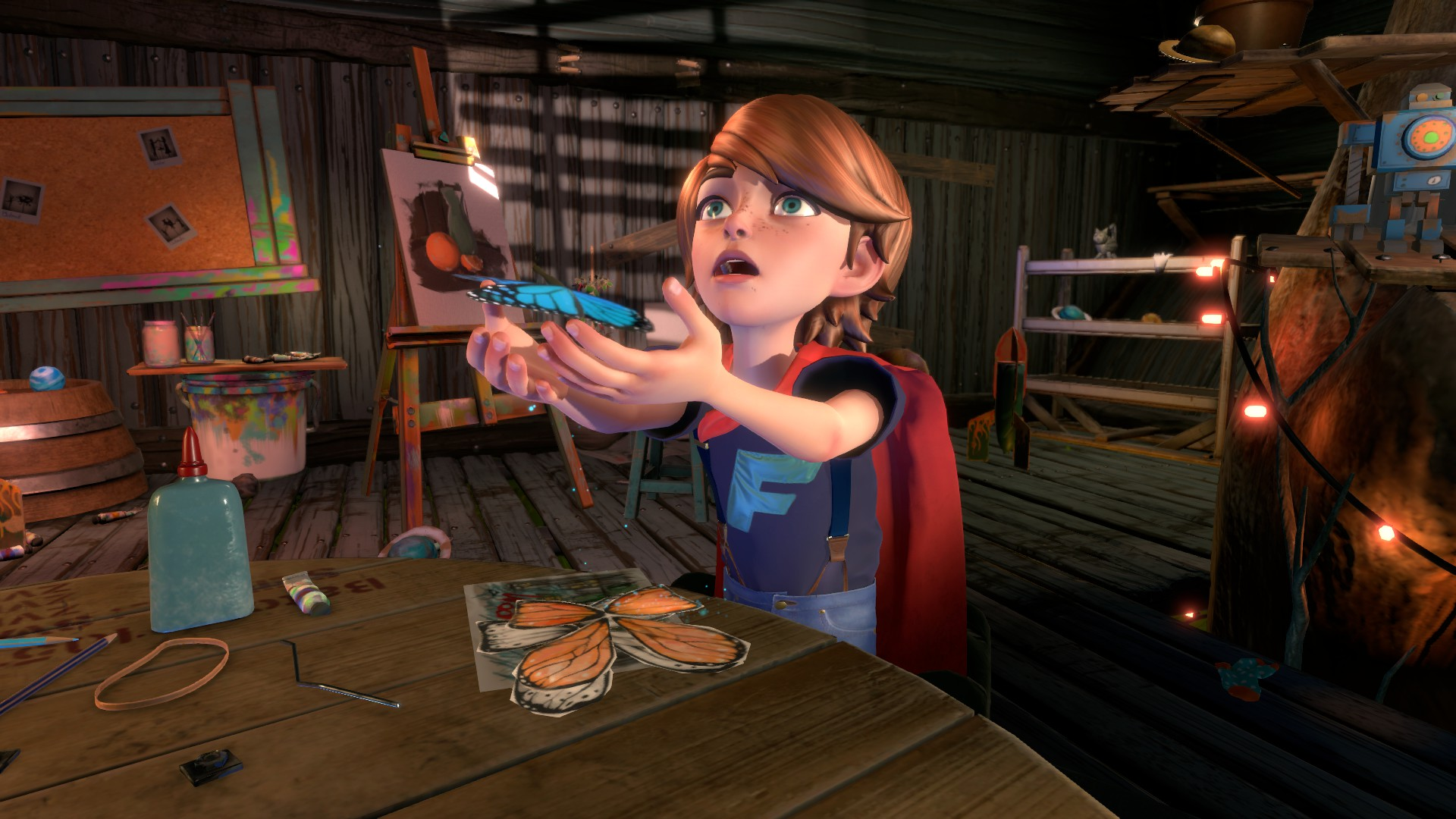 In Blackwood Crossing, players follow Scarlett, older sister of Finn (pictured), as they come to terms with the death of their parents.