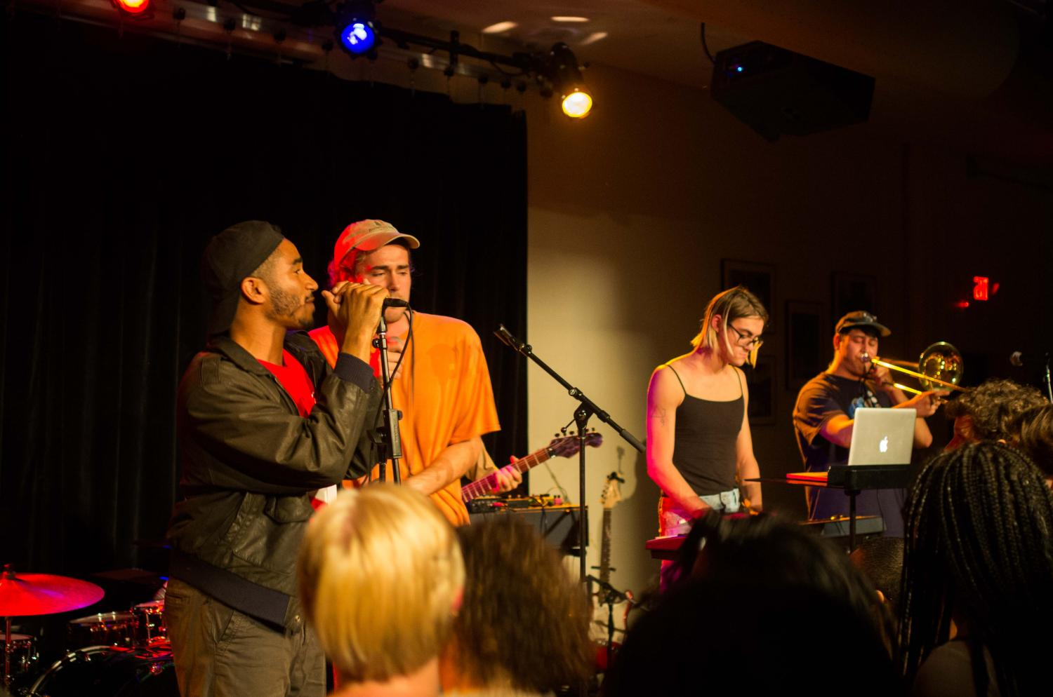 Student band Bémbe opens for Xenia Rubinos, who played an energetic, powerful show at the Cat in the Cream Saturday night.