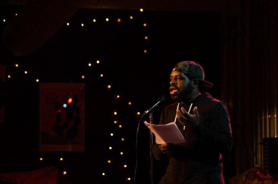 Slam+poet+Hanif+Willis-Abdurraqib+performed+a+selection+of+witty%2C+unusual%2C+and+energetic+poems+at+the+Cat+in+the+Cream+Monday+night.