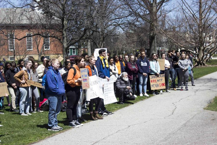 Oberlin+High+School+and+College+students+protested+gun+violence+by+walking+out+of+school+last+Friday.