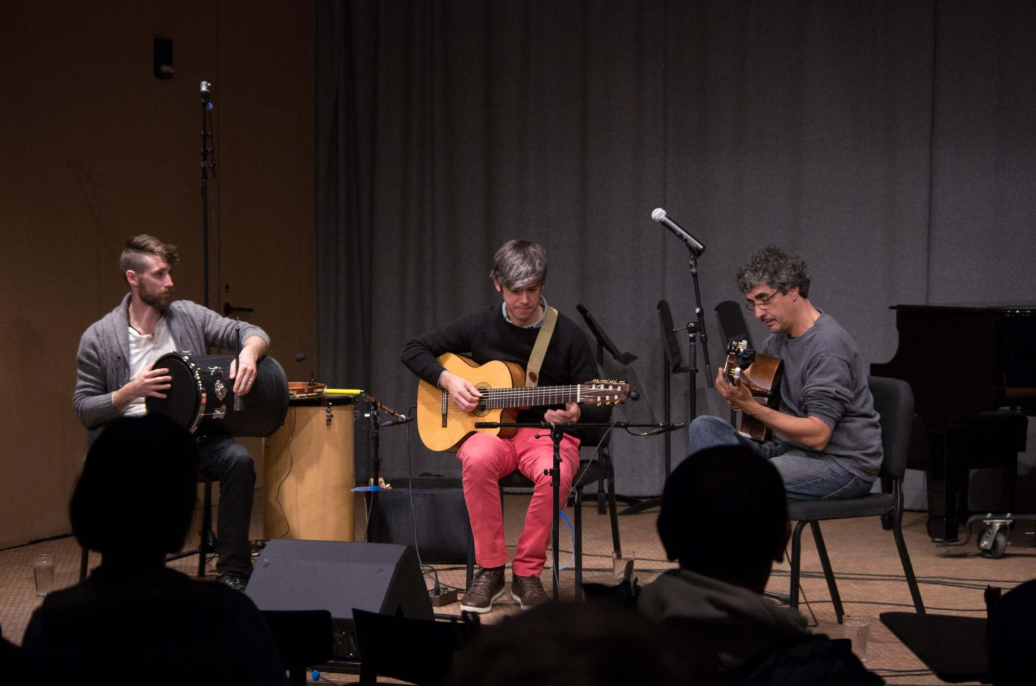 Acclaimed Brazilian guitarists Rogério Souza and Edinho Gerber, with percussionist Lucas Ashby, perform a program of Brazilian music in the Birenbaum Innovation and Performance space Tuesday night.