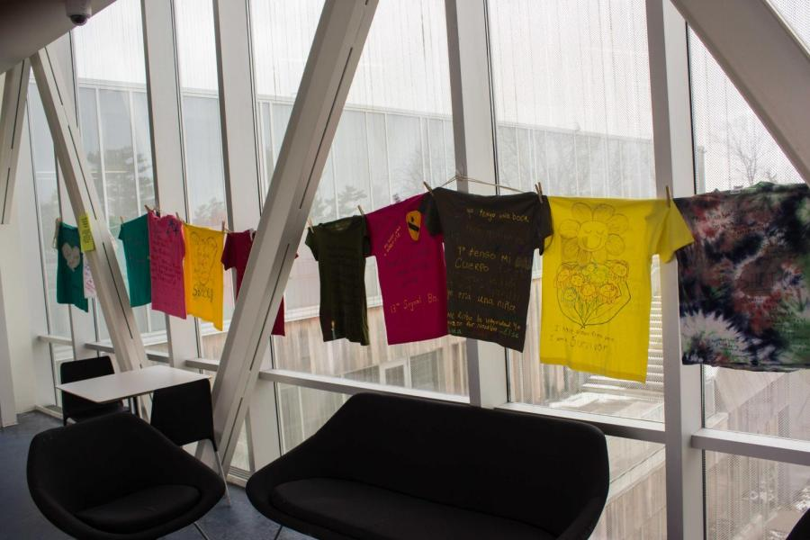 Part+of+Consent+Month+at+Oberlin%2C+the+Clothesline+Project+is+a+form+of+activism+through+visual+art%2C+addressing+topics+of+sexual+and+gender-based+violence.+Visual+art+and+graphic+messages+on+t-shirts+showcase+stories+and+messages+of+solidarity+while+providing+a+voice+for+assault+survivors.+With+the+motto+%E2%80%9CBreak+the+Silence+of+Violence%2C%E2%80%9D+the+Clothesline+Project+is+a+worldwide+initiative.+Art+is+uncensored%2C+intended+to+begin+the+healing+process+for+survivors+and+memorialize+victims+of+sexual+violence.+Presented+by+the+Nord+Center%2C+the+exhibit+is+on+display+in+the+Science+Center+and+McGregor+Skybar+until+the+end+of+April.