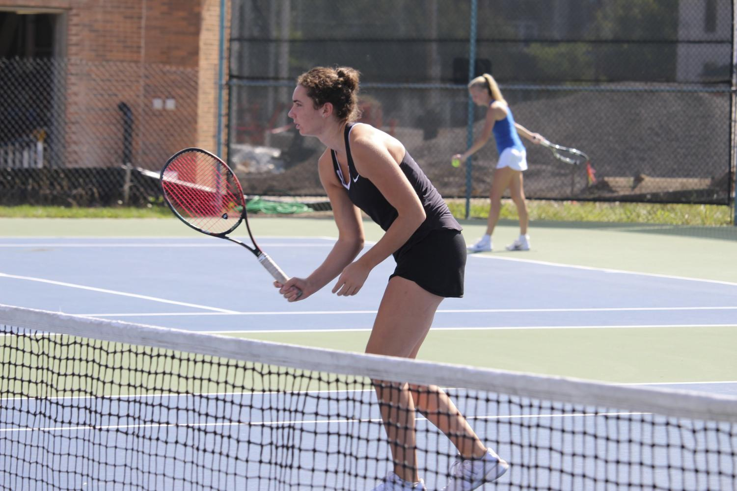 Sophomore Lena Rich played a big role in helping the Yeowomen secure third place in the NCAC Tournament last weekend. Rich won her singles matchup 6–0, 6–0 at No. 6.