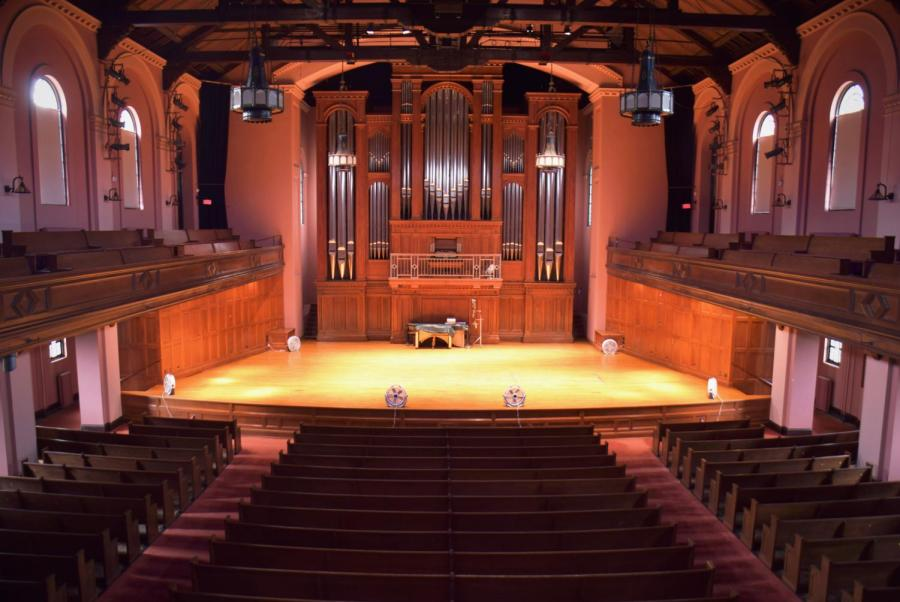 Oberlin+students+and+community+members+recently+learned+that+world-renowned+organist+and+Chair+of+the+Organ+Department+James+David+Christie+resigned+following+allegations+of+longstanding+sexual+misconduct+emerged.+Organists+on+campus+regularly+practice+and+perform+at+Finney+Chapel%E2%80%99s+historic+C.B.+Fisk+pipe+organ.