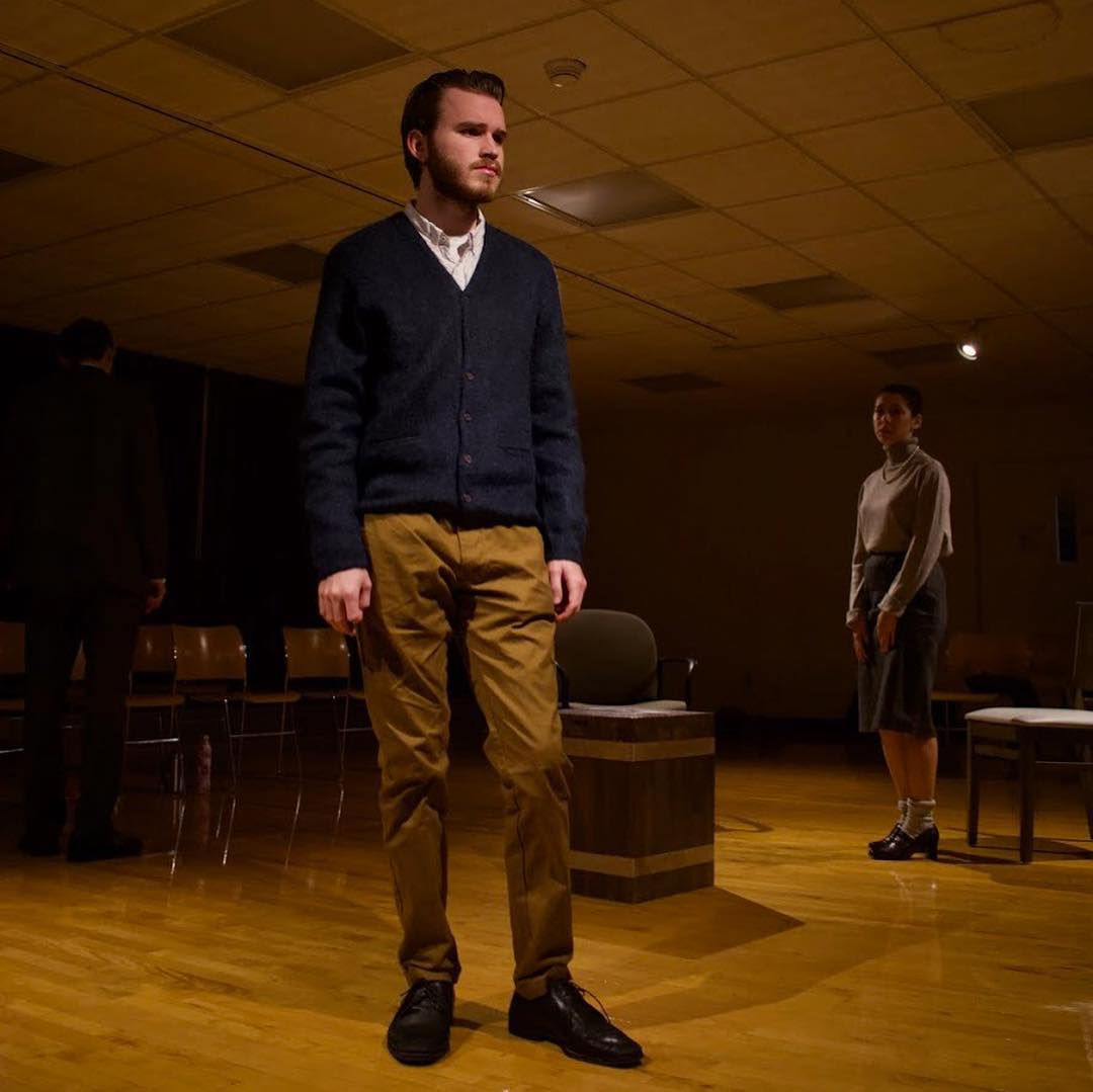College junior Hartley Wise stars in Copenhagen, an Oberlin College Theater production with performances tonight and Saturday.