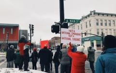 Protesters Stand Against National Emergency