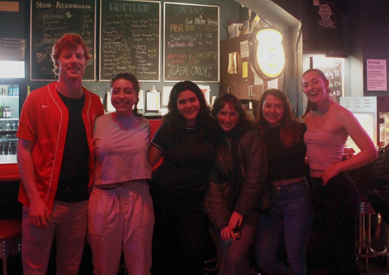 The senior 'Sco staff, from left to right: Dan Nerenhausen, Julie Schreiber, Olivia Ercilla Antrobus, Maya Blumenberg-Taylor, Emma Broun, and Meg Parker.