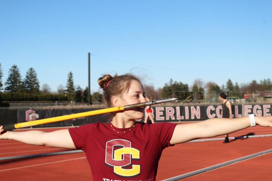 After+three+years+as+a+member+of+the+softball+team%2C+College+senior+Millie+Cavicchio+has+found+a+new+home+with+track+and+field+and+is+shining+in+the+javelin.+Cavicchio+has+overcome+many+obstacles+throughout+her+college+experience%2C+including+thoracic+outlet+syndrome+and+ankle+surgery.