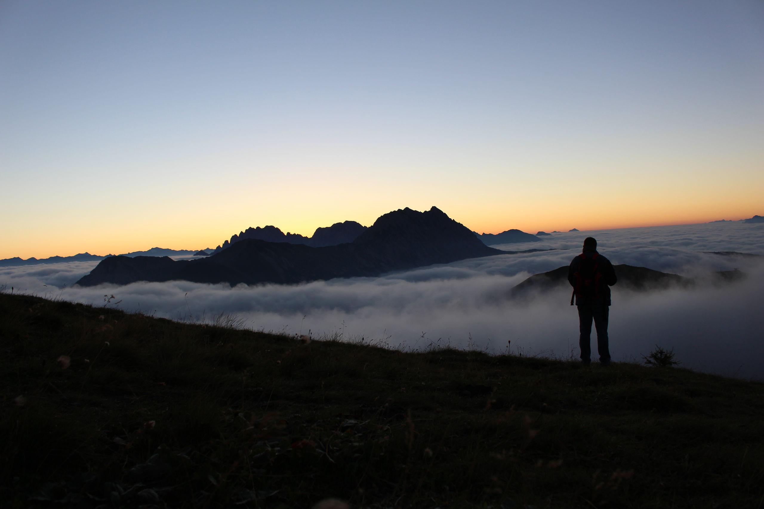 Sonnenaufgang Golzentipp, Obertilliach