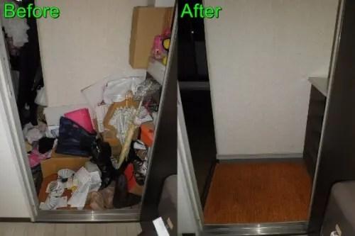 大阪市都島区のマンションの不用品回収ビフォーアフター