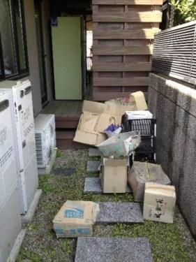 家の周囲のゴミや不要品