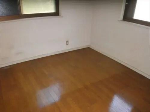 クリーニング後の床