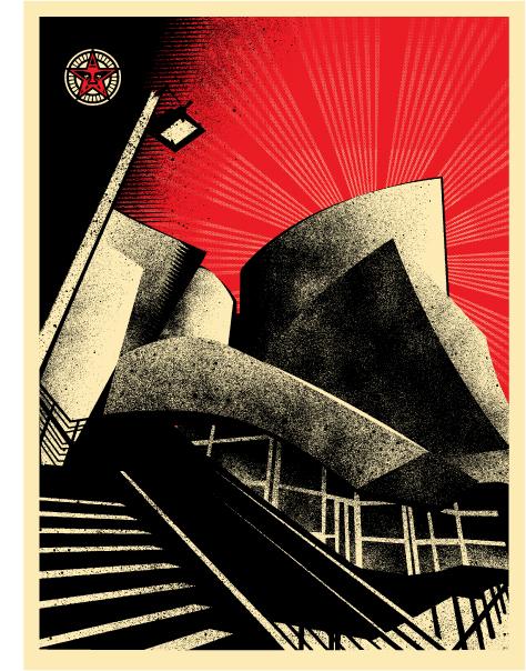 Obey Giantl; LA Philharmonic Hall