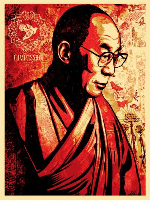 Dalai Lama - Obey Giant