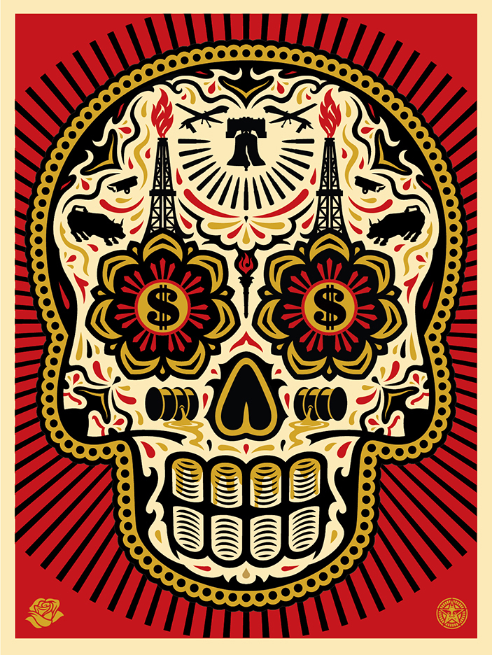 DOTD COLORa C55 SOLD OUT Power Glory Day Of The Dead Skull