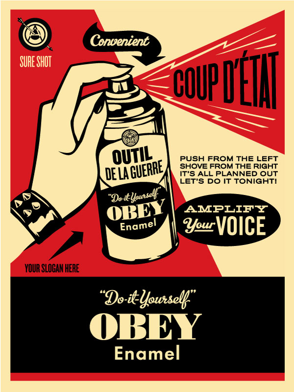 obey coup d 39 etat obey giant. Black Bedroom Furniture Sets. Home Design Ideas