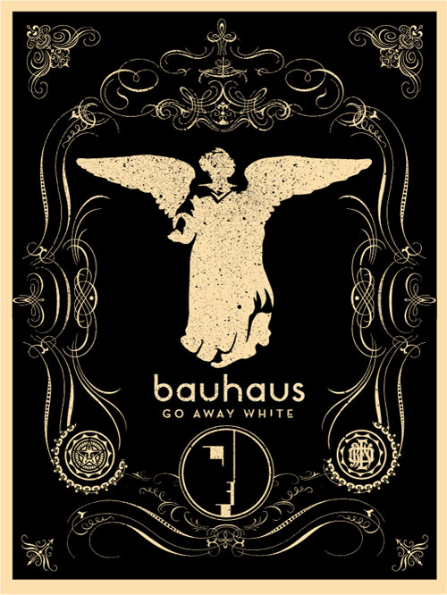 Bauhaus band poster print