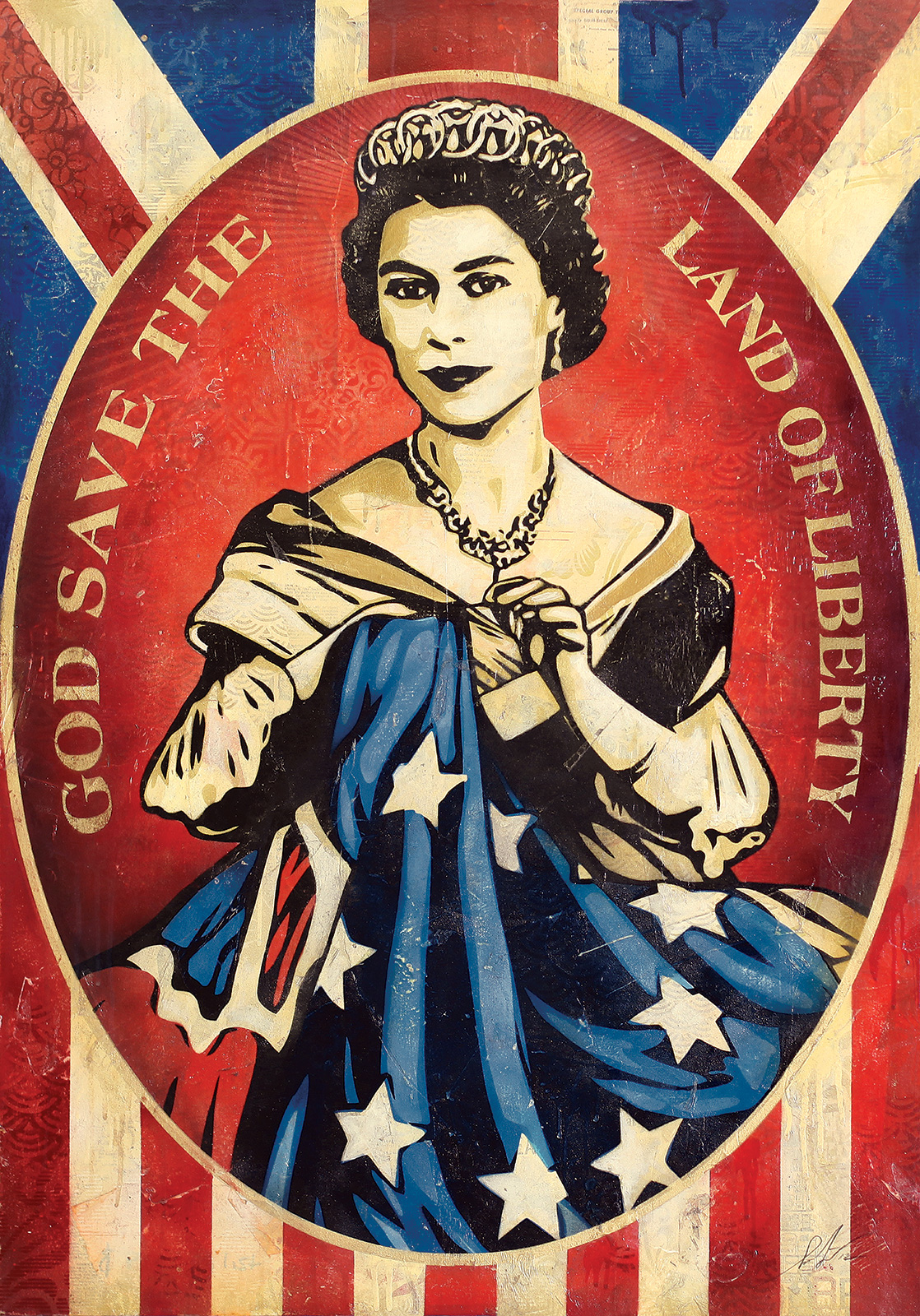 god save the queen canvas
