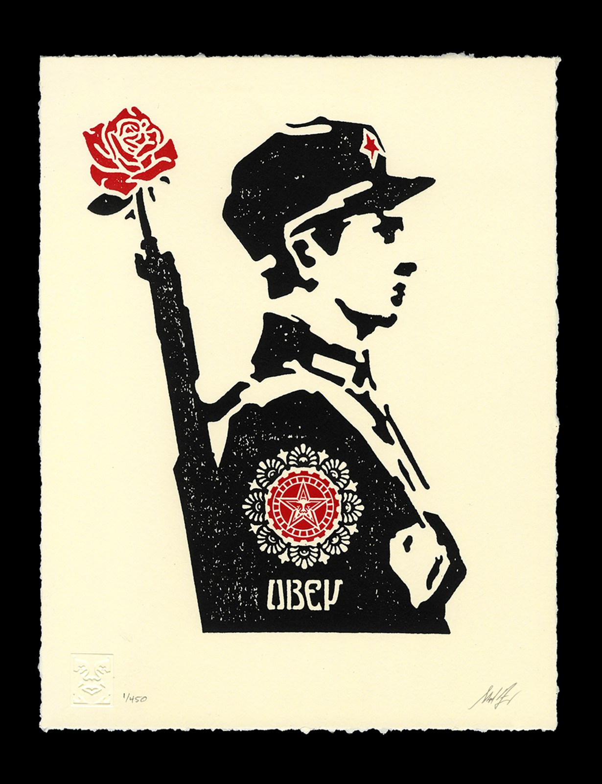 rose soldier letterpress avail 10 10 obey giant. Black Bedroom Furniture Sets. Home Design Ideas