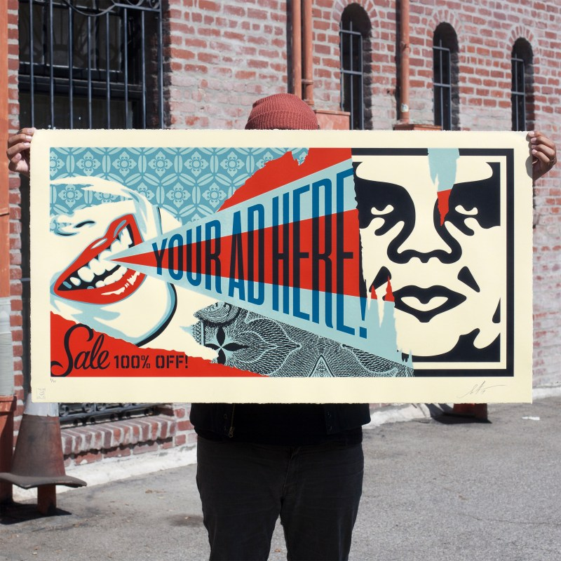 your ad here billboard large format print avail 6 5 obey giant