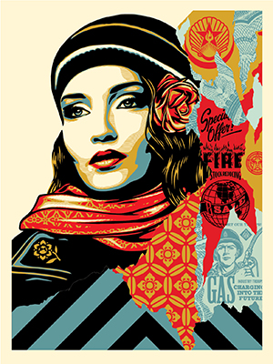 OBEY FIRE SALE SCREEN PRINT AVAIL. 8/16!