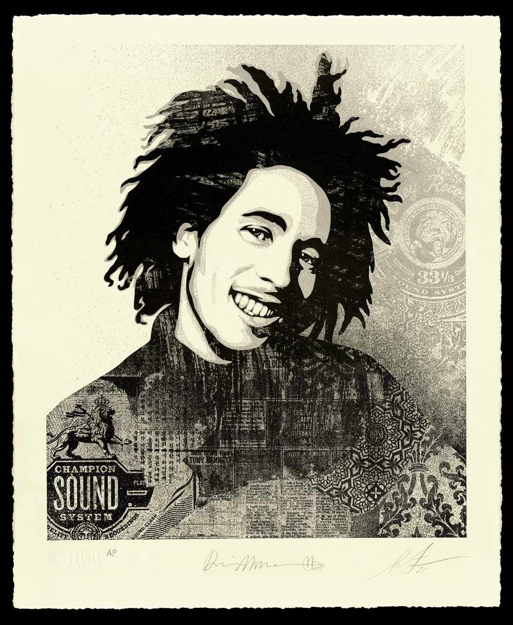 """Bob Marley 40th Letterpress - """"Lively Up Yourself"""" - 16 x 19.5 inches"""