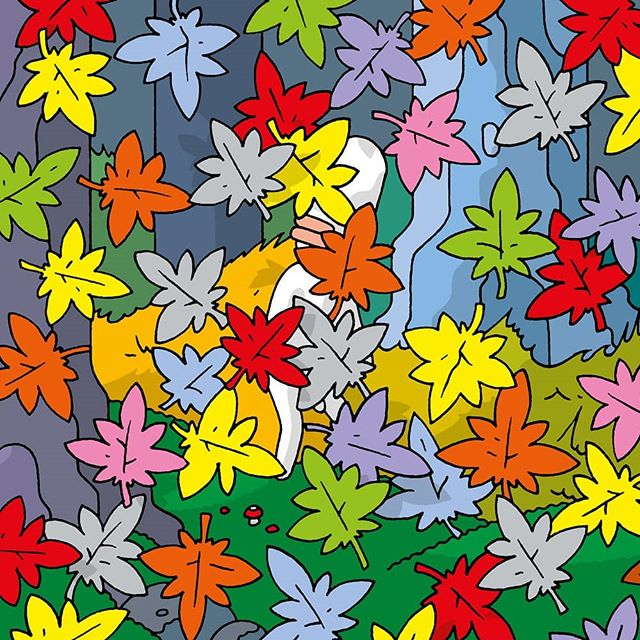 #autumn #leaves #intheforest #samuel #samuelcomic #nowanthology #now #fantagraphics