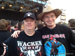 Rob and Richard Moule at an Iron Maiden Concert (Rob is the tall guy!)