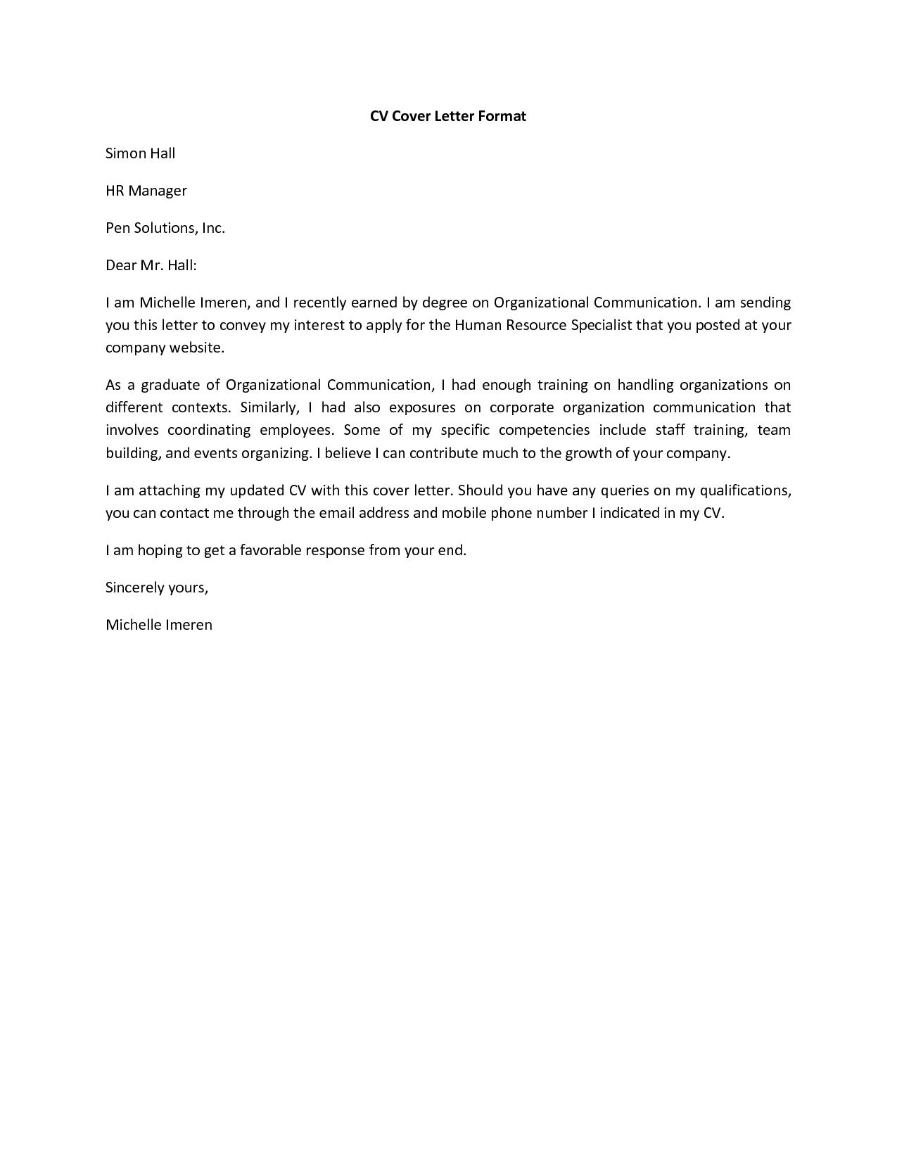 Sample Cover Letter For Resume Basic Cover Letter For A Resume