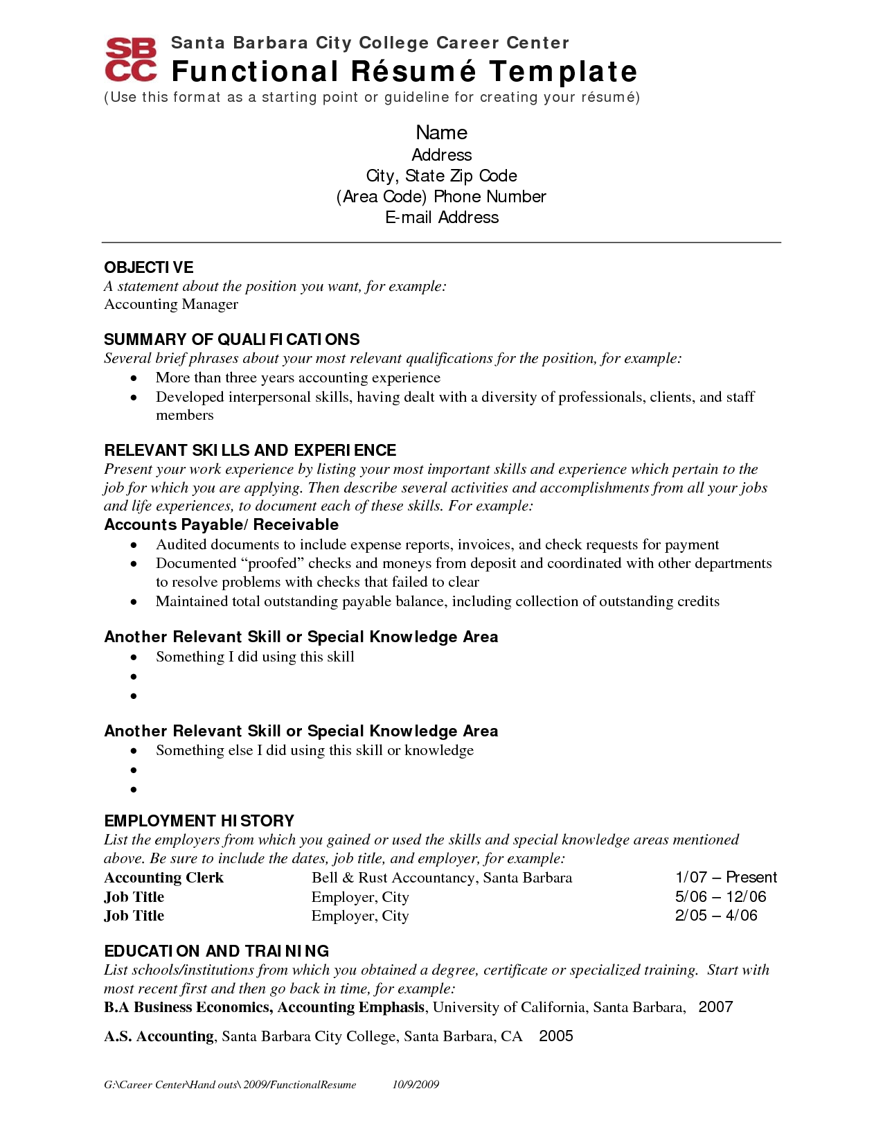 Resume Job Resume Sample For Employment
