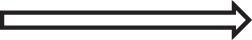 A rightward thick arrow.