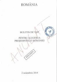 buletin de vot alegeri 2014 coperta 1