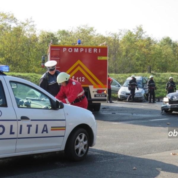 Slobozia: Iar accident în intersecția Bulevardul Chimiei cu varianta. Victimă încarcerată