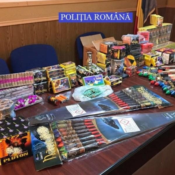 Articole pirotehnice confiscate de polițiști - Urziceni, Fetești, Gârbovi