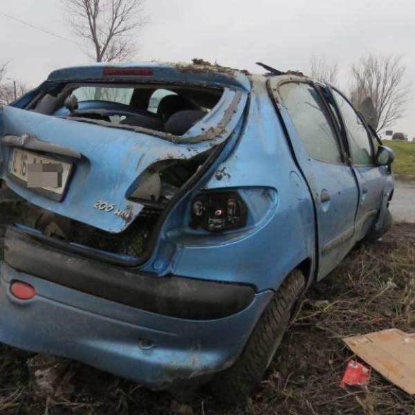 Accident rutier în Slobozia, zona cimitir