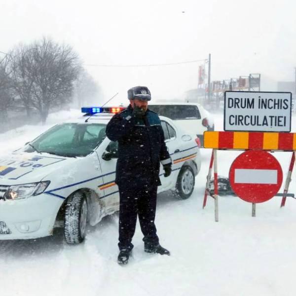 Ialomița: Drumuri închise. INFOTRAFIC