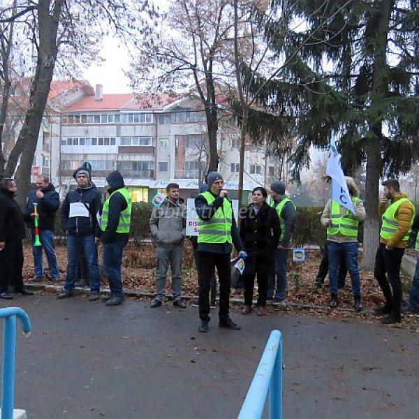 Ialomița: Polițiștii protestează împotriva discriminărilor salariale
